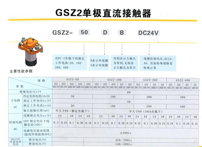 gsz2-d选型图