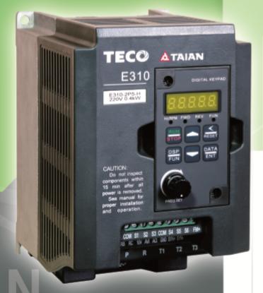 台安变频器 e310-2p5-h 0.4kw 多功能通用型