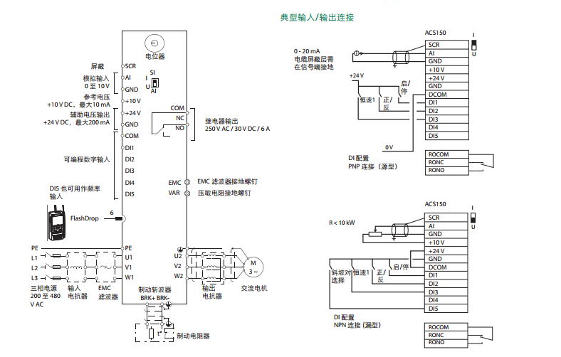 abb变频器紧凑型 acs150-03e-07a3-4