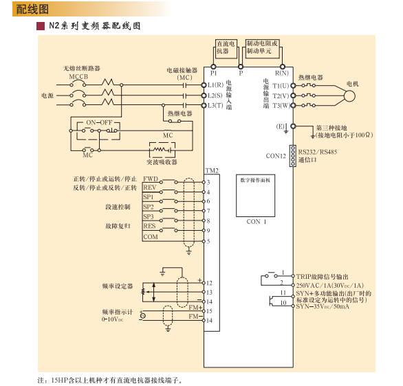 东元 台安变频器 n2-203-h 2.2kw 220v 通用型变频器