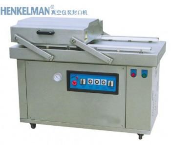 晋江冷冻产品双室型真空包装封口机|泉州山野菜双室型真空包装机