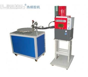 广州包装业定位转盘机,江门卫生用品热熔胶涂布复合机