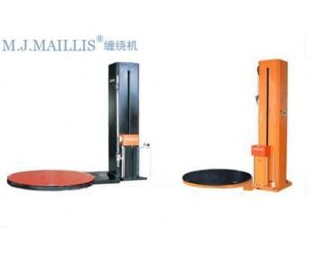 中山食品饮料预拉自动薄膜缠绕机/江门玻璃陶瓷在线式薄膜裹包机