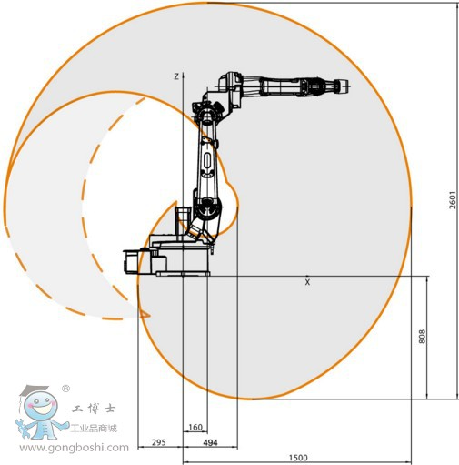 ABB 弧焊机器人 IRB 1520ID  4kg 工作范围1.5m