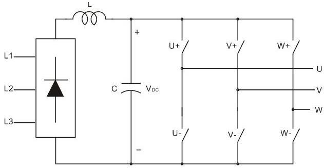 三相变频器主电路结构图
