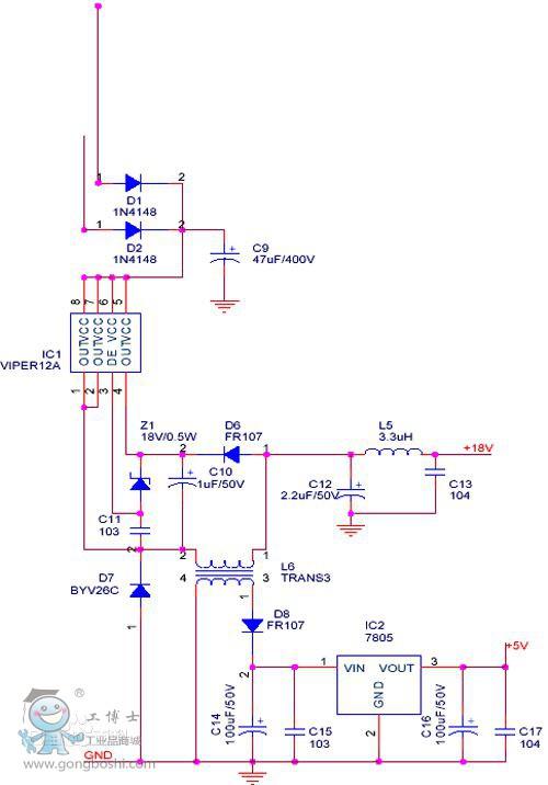 220v变压36v能照明接线图
