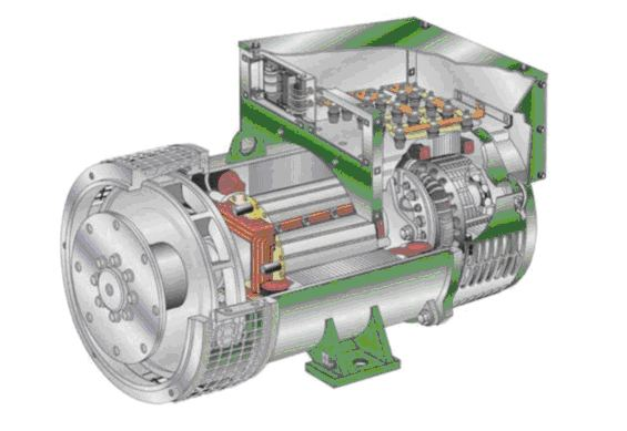 电枢反应:        当发电机接上对称负载后,电枢绕组中的三相电流会