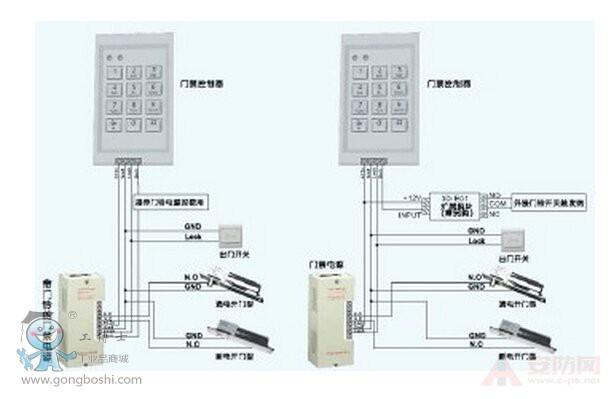 门禁磁力锁接线图及安装步骤分析!