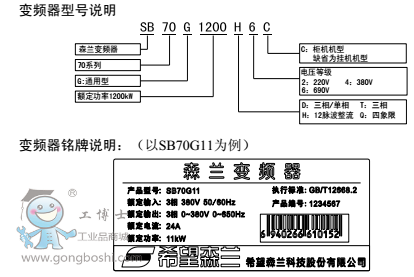 森兰变频器 sb70g-90t4 380v 代理