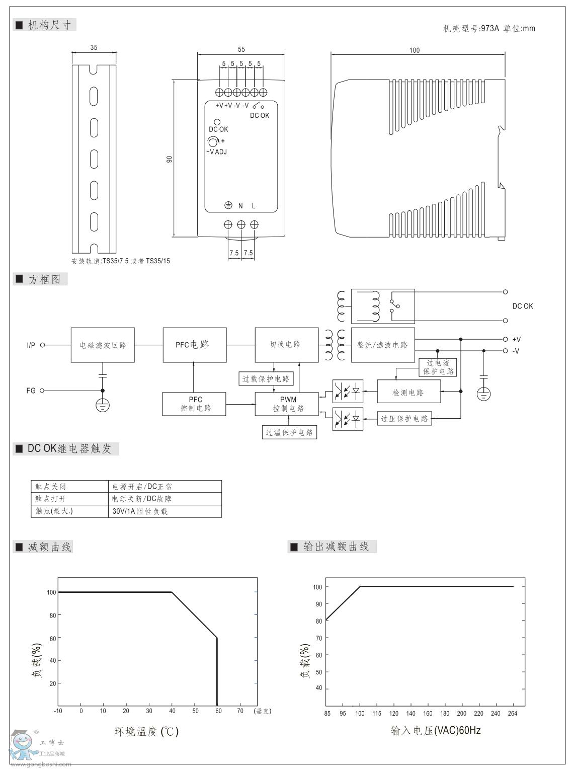 明纬导轨电源mdr-100-24 24v4a 现货供应