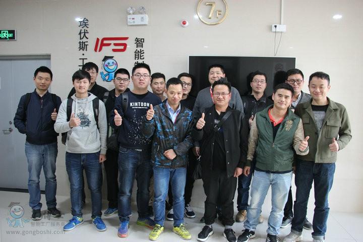 ABB机器人培训学员合影