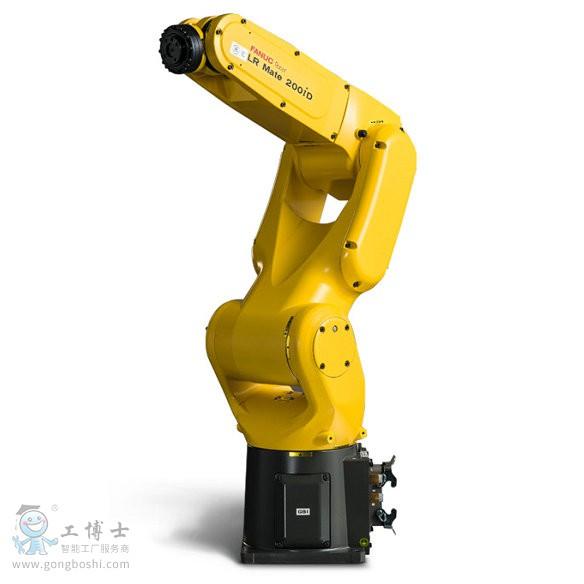 人手臂大小的万能迷你智能机器 应用实例 特长 LR Mate 200iD是一款大小和人的手臂相近的迷你机 器人。 因为它的手臂很苗条,所以即使被安装在狭小的空 间进行使用,也可以把机器人手臂与周围设备发生碰 撞的可能性控制在最低限度。 可以从标准型(可达半径717mm)、短臂型(可达 半径550mm)、长臂型(可达半径911mm)、 洁 净型、对应清洗的防水型、5轴高速型等机种中, 根据需要进行最佳选择。 具有同级别机器人中最轻的机构部分,能够容易地 把它安装在加工机械内部或者进行顶吊安装。 通过采