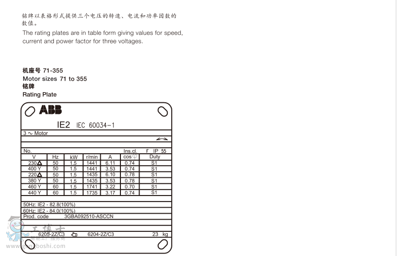 abb电机/三相异步电动机