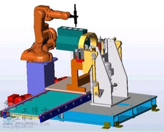 工博士机器人集成针对于发动机装配工作站应用