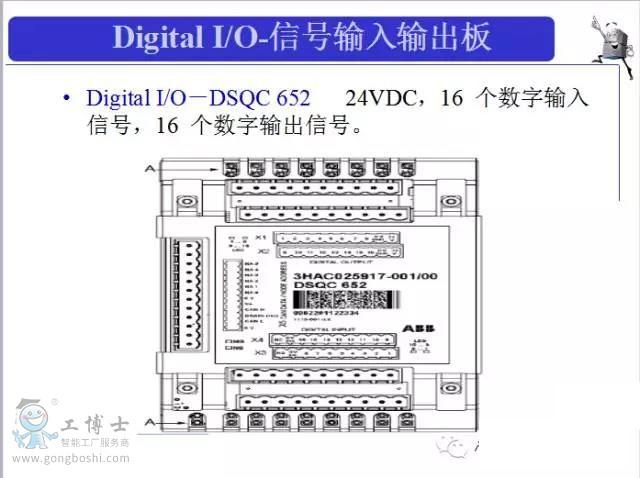 Digital I/O-信号输入输出板 DSQC 652