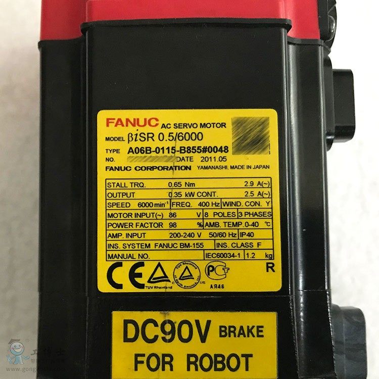 发那科机器人A06B-0115-B855小电机