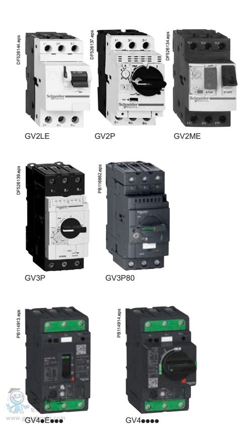 施耐德GV2,GV3,GV4电动保护断路器