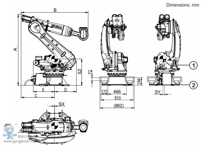 KUKA机器人结构图