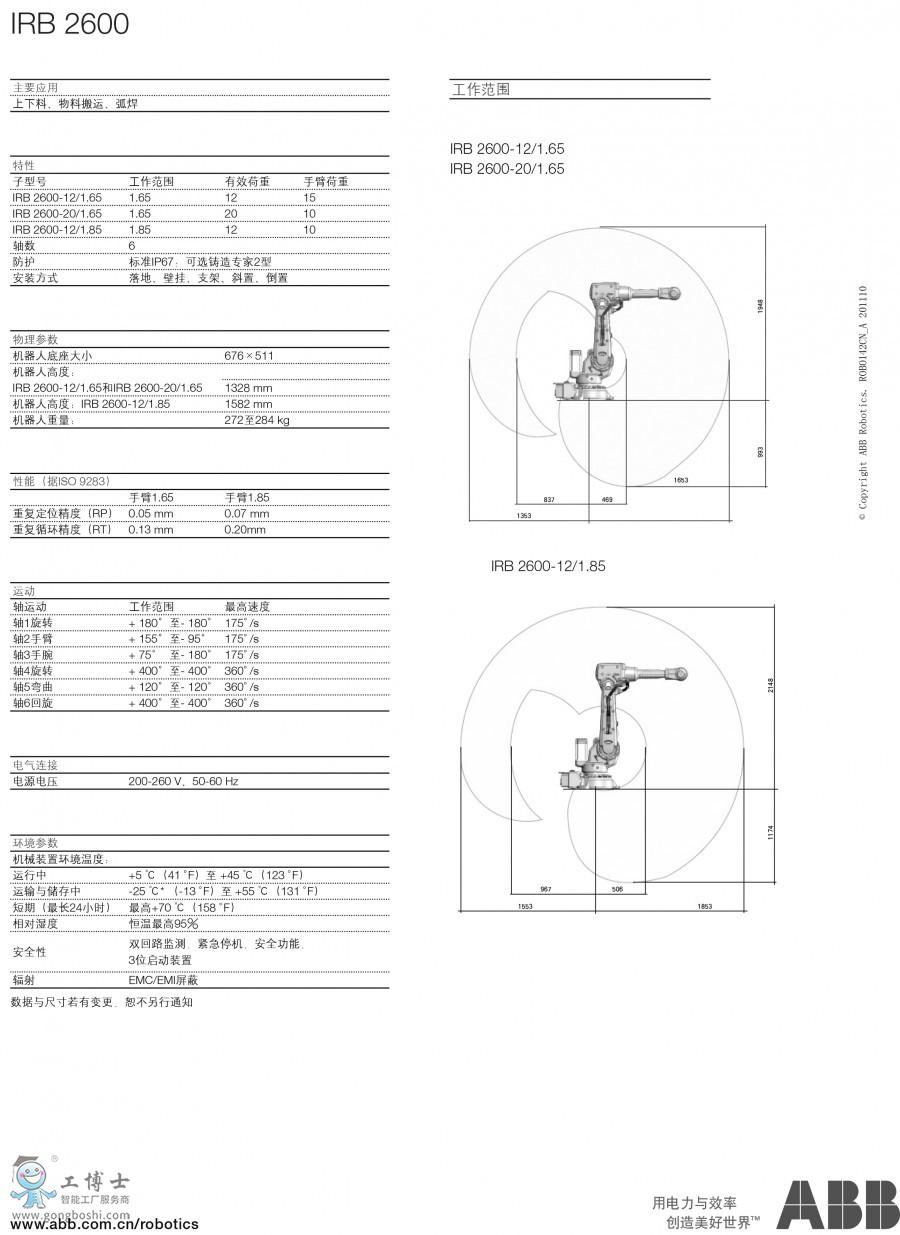 ABB机器人_IRB 2600工业机器人-2
