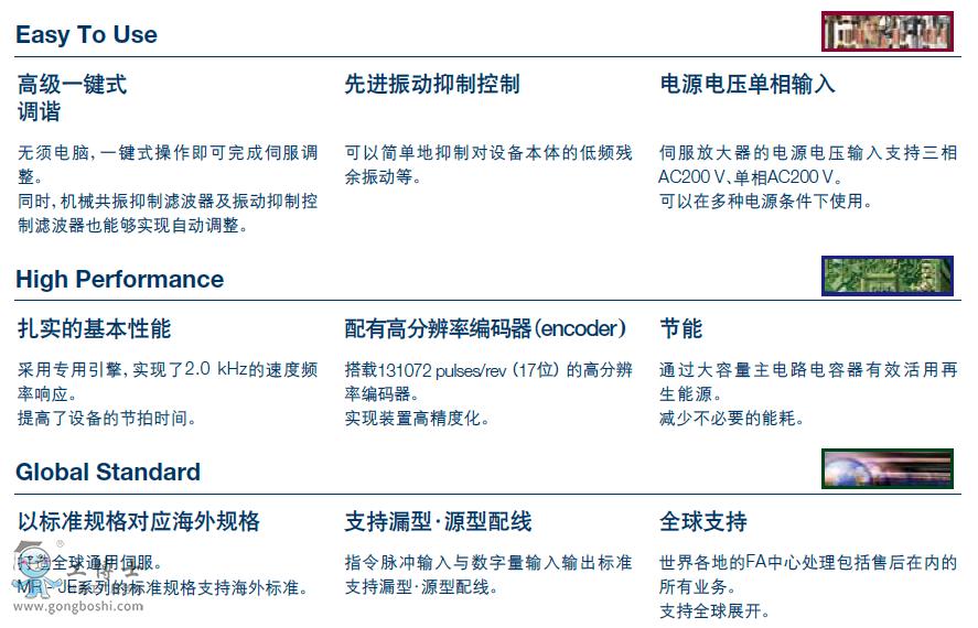 三菱电机AC通用伺服电机MR-JE-AS产品样本