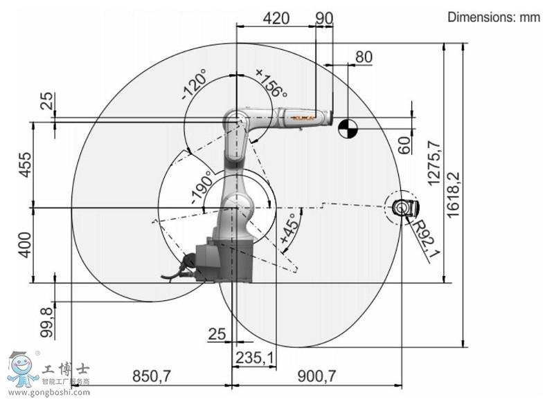 KR 6 R900俯视图