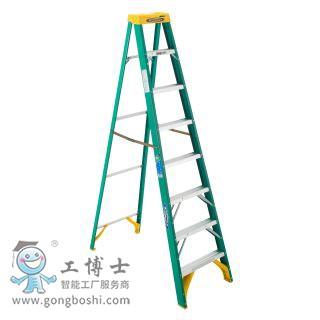 稳耐梯子5908CN玻璃钢单侧人字梯2.4米(承重102千克),耐压:35KV