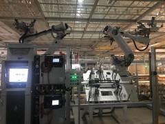 ABB机器人风挡玻璃涂胶站视频(2) (9播放)