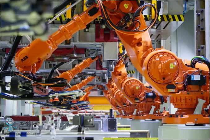 工业机器人应用在汽车行业的冲压车间!