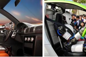 另类自动驾驶!可看红绿灯可踩油门刹车的机器人司机出现了