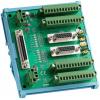 研华ADAM-3955-AE 端子板配件50针SCSI DIN导轨移动接线板