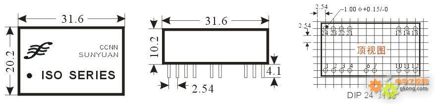 一路热电阻信号输入两路电流信号输出(dip)